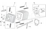 Поршневой к-т 55мм (поршень+палец+кольца) оригинальный Piaggio Aprilia 125cc