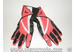 Перчатки кожаные DAINESE красно-черные XXL